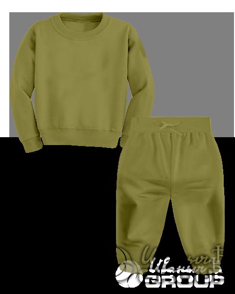 Оливковый костюм детский