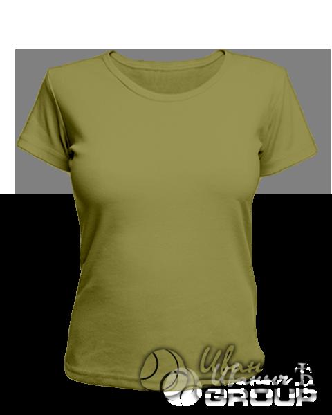 Оливковая женская футболка для беременных