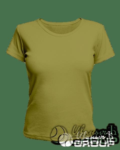 Оливковая женская футболка