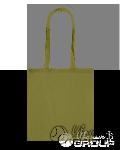 Оливковая сумка холщевая