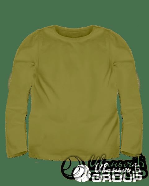 Оливковый лонгслив детский