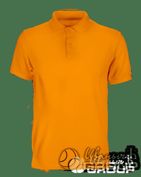 Оранжевое поло премиум