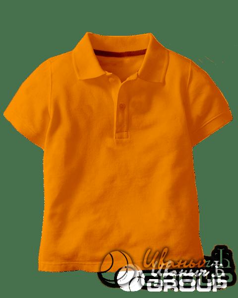 Оранжевое поло детское