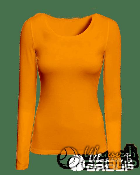 Оранжевый лонгслив женский