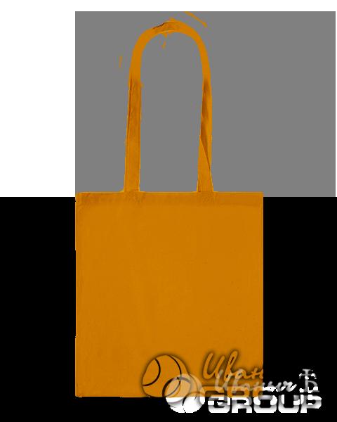 Оранжевая сумка холщовая