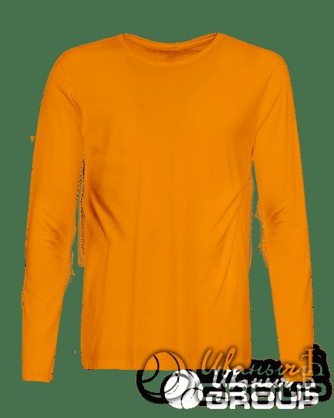 Оранжевый лонгслив промо