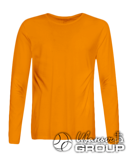 Оранжевый лонгслив на заказ