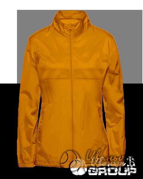 Оранжевая ветровка женская