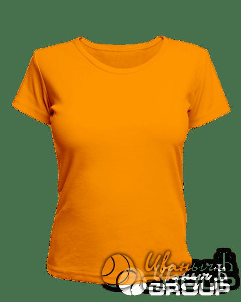 Оранжевая женская футболка для беременных