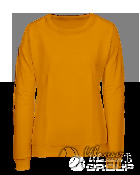 Оранжевый свитшот женский
