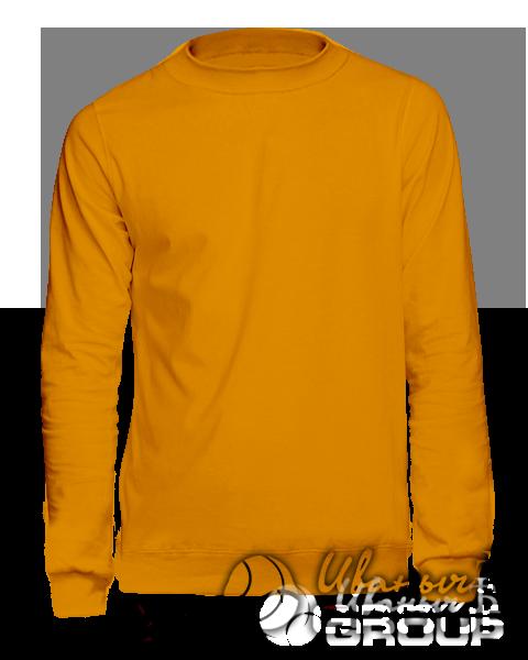 Оранжевый свитшот мужской
