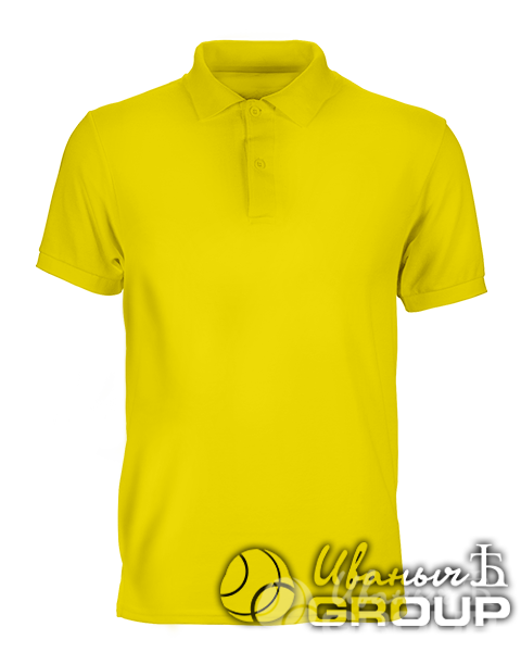 Желтое поло на заказ