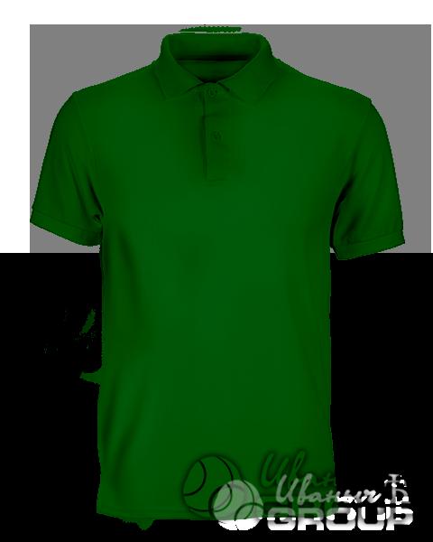 Темно-зеленое поло