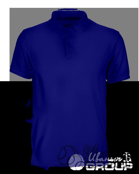 Темно-синее поло на заказ