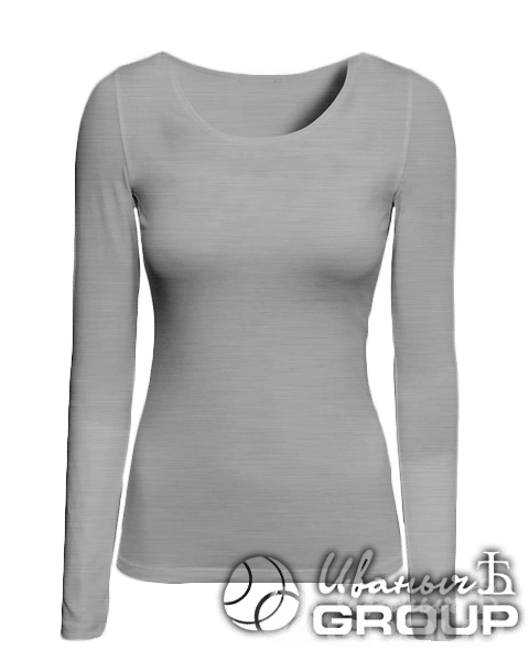Серый-меланж лонгслив женский