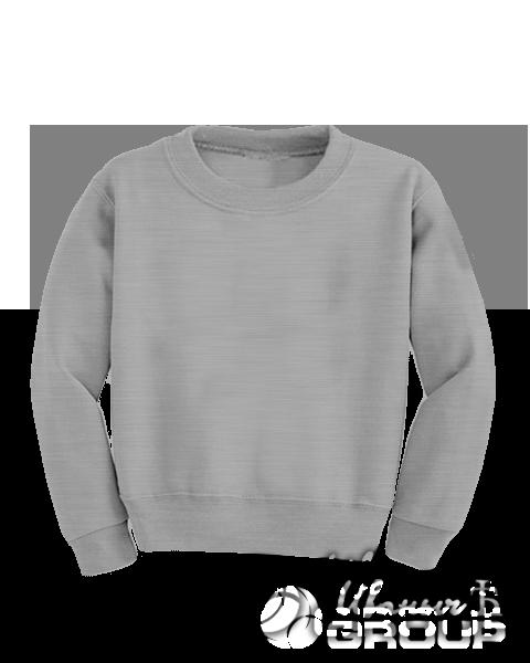 Серый-меланж свитшот детский