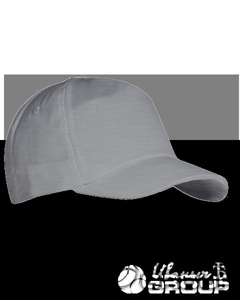 Серый-меланж бейсболка на липучке