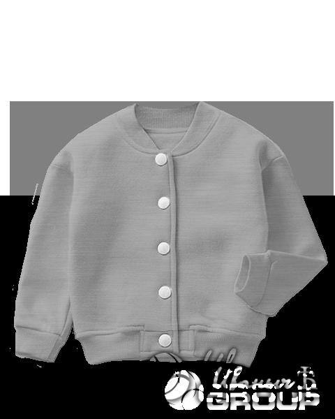 Серый-меланж бомбер детский