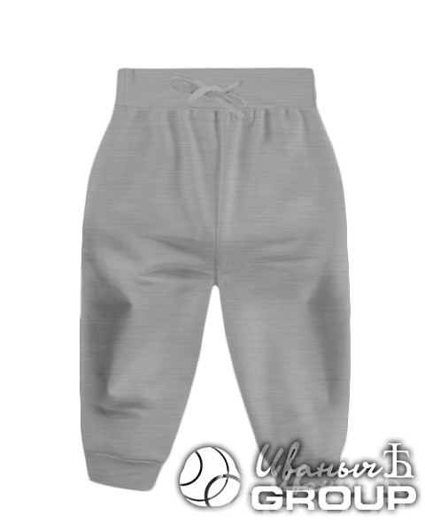 Серый-меланж штаны детские