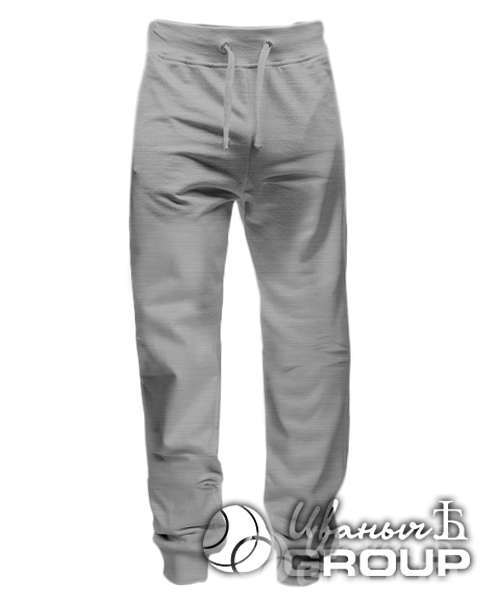 Серый-меланж штаны мужские