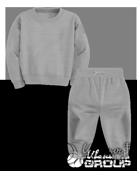 Серый-меланж костюм детский