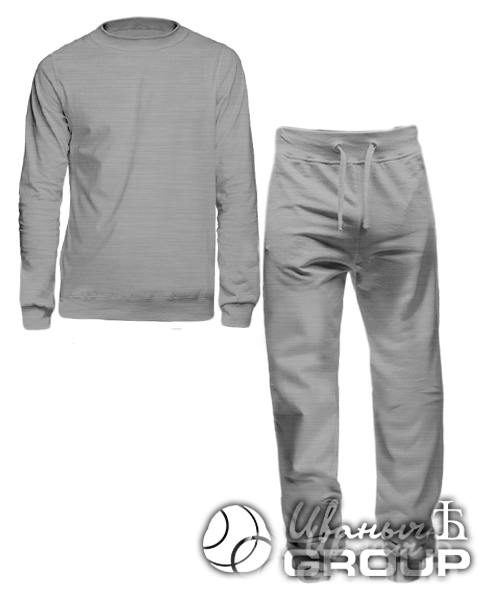 Серый-меланж костюм мужской
