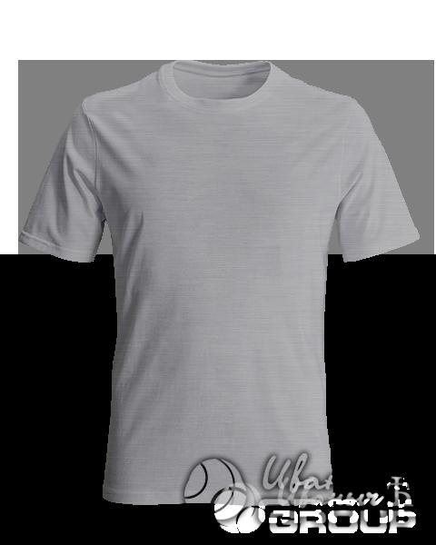 Серый-меланж футболка