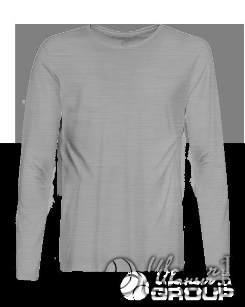 Серый-меланж лонгслив премиум