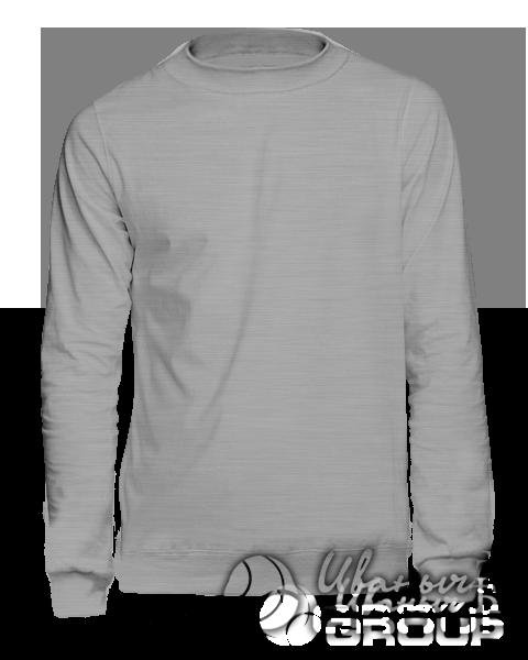 Серый-меланж свитшот мужской