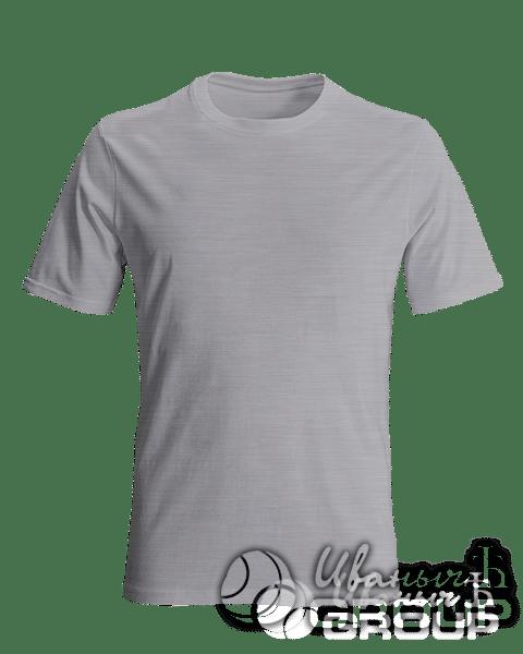Серый-меланж футболка на заказ