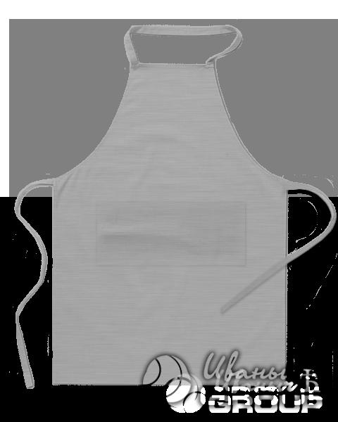 Серый-меланж фартук