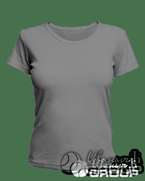 Серая женская футболка для беременных