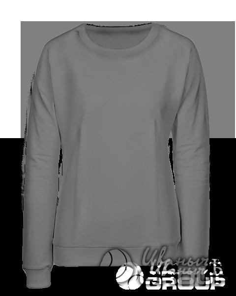 Серый свитшот женский