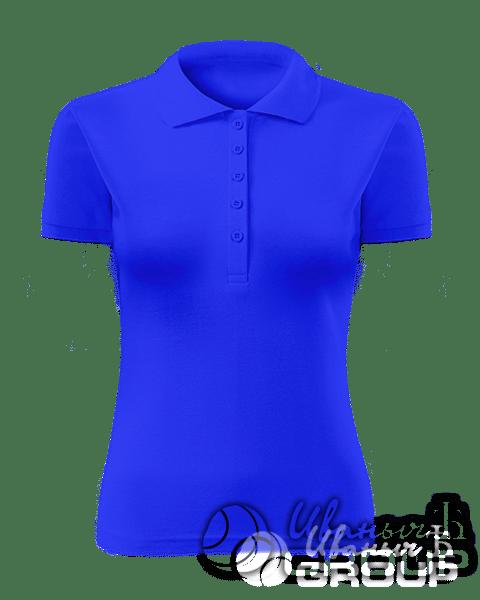 Синее поло женское