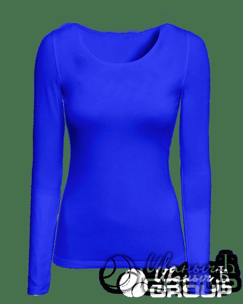 Синий лонгслив женский