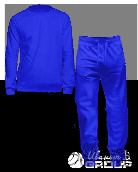 Синий костюм мужской
