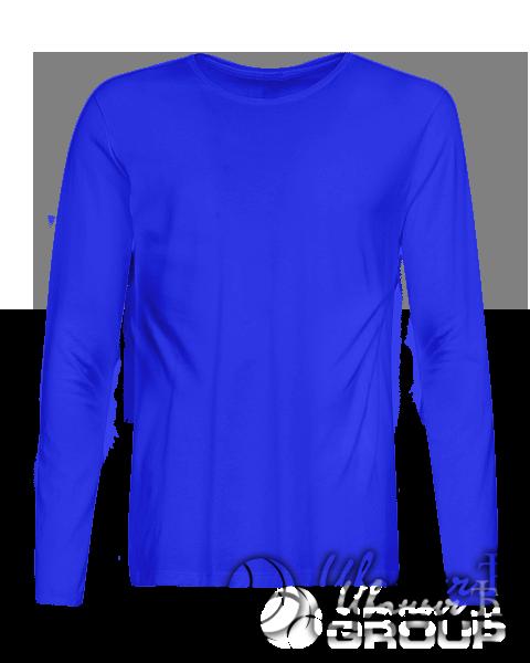 Синий лонгслив премиум