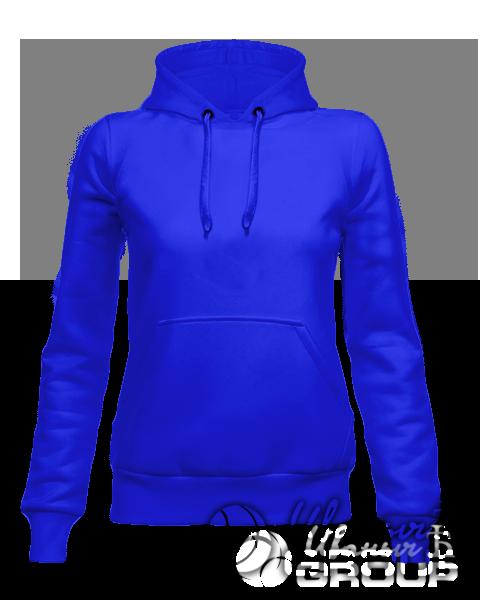 Синее женское худи