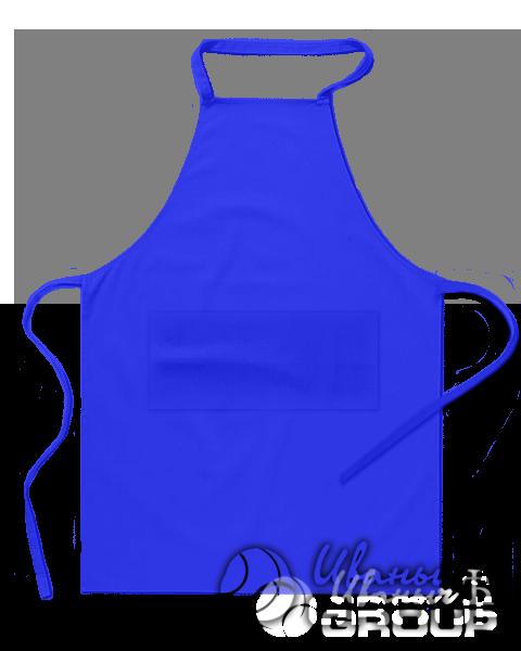 Синий фартук