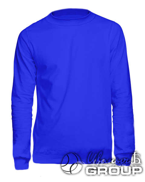 Синий свитшот на заказ