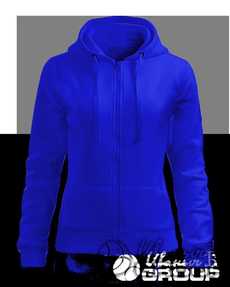 Синяя толстовка женская