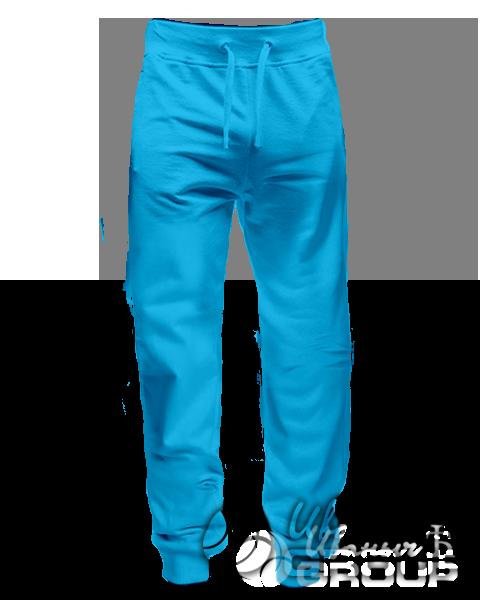 Голубые штаны зауженные