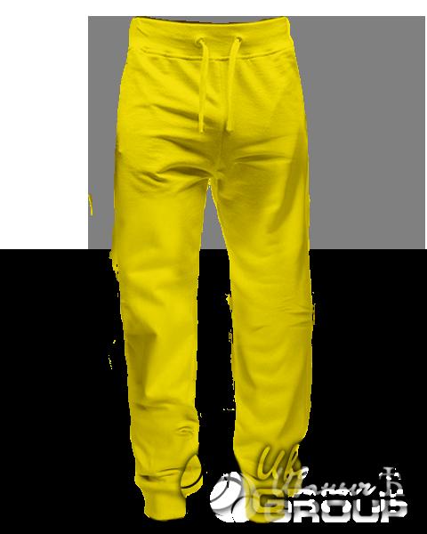 Желтые штаны зауженные
