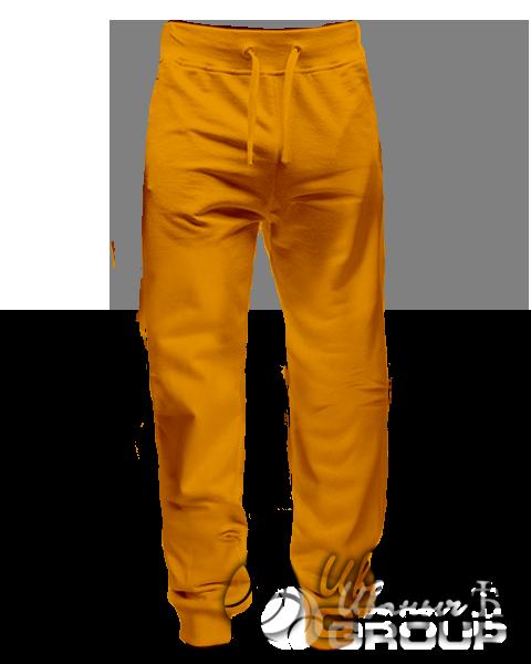 Оранжевые штаны зауженные