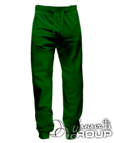 Темно-зеленые штаны зауженные