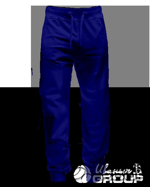 Темно-синие штаны зауженные