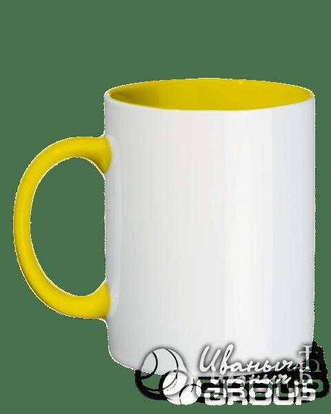 Желтая кружка под нанесение