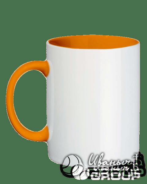 Оранжевая кружка под нанесение