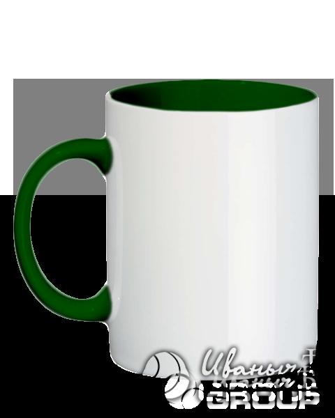 Темно-зеленая кружка