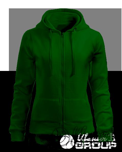 Темно-зеленая толстовка женская